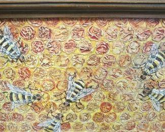 """Jeffe Riffel, New Orleans artist.  Oil on board.  25-1/2"""" by 17""""."""
