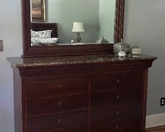 Pennsylvania House marble top dresser with mirror
