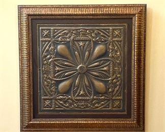 Another framed metal artwork