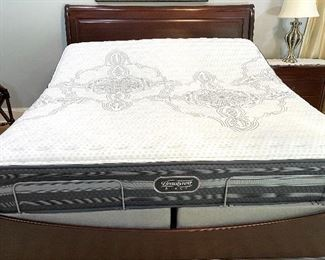 King Beautyrest mattress and Temperpedic adjustable base sold separate from bed frame