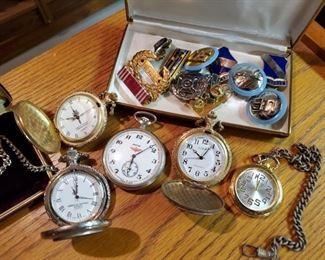 Pocket Watches & Military Memorabilia