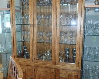 LARGE HUTCH WITH GLASS DOORS LIGHTED