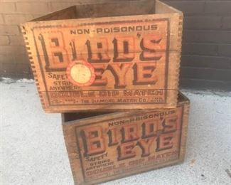 006 2 Birds Eye Wood Crates