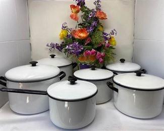 007 Vintage Vollrath Enamel Cookware