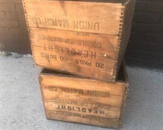 2 Headlight Matches Wood Crates