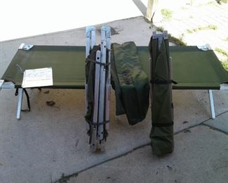 3 Camping Cots