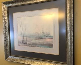 Signed & Framed Art Print by G. Giuliani