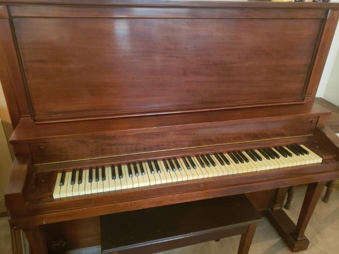 $750     Fine Antique Chickering Upright Piano