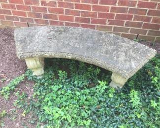 Outdoor Concrete Bench