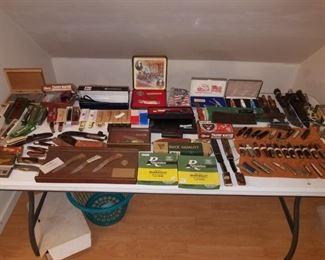 Case / Gerber - mostly NOS pocket knife collection.