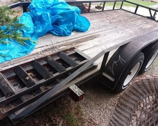 16' tandem flatbed trailer