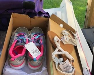 Brand new girls shoes and sandals.
