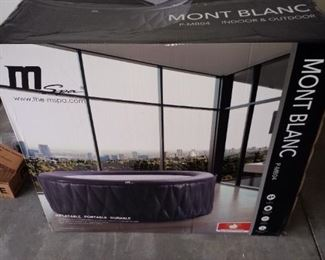 Mont Blanc portable jacuzzi. Brand new in the box.