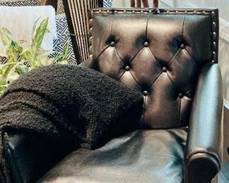 Black Leather Club Chair