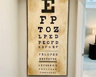 Large Pop Art, Eye Chart