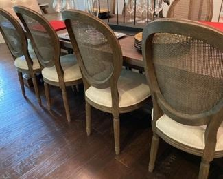 (8) Restoration Hardware Cane Back Chairs