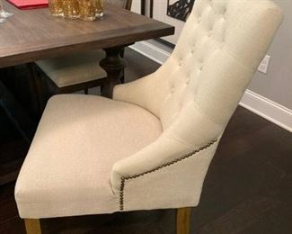 (2) Upholstered Captains Chairs