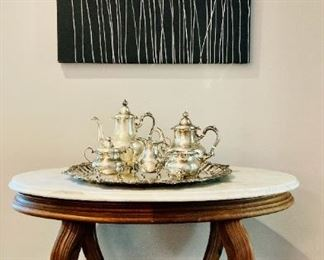 Victorian Table with Marble Top