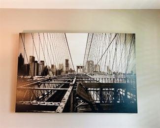 Large Art on Canvas, Brooklyn Bridge