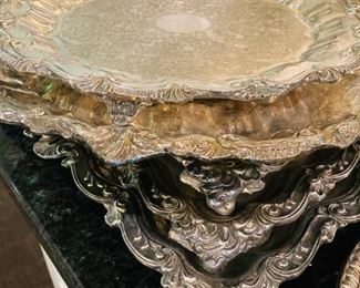 Silver Plate Servers and Platters