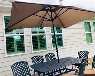 Marketplace Umbrella and Umbrella Stand
