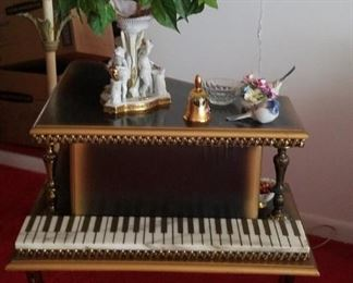 Fabulous Hollywood Regency Custom made side table grand piano style