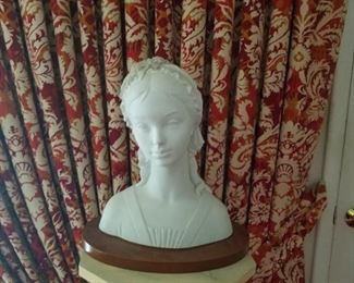Lladro Veiled Lady Bust