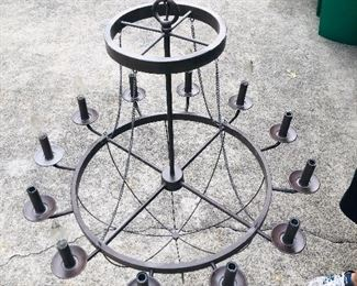 """Was $280....just reduced to $210!! / Large Candleabra Chandelier is  29"""" wide x 28"""" tall w/ 70"""" chain length"""