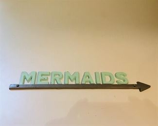 Mermaids this way! Metal contemporary. $12.00