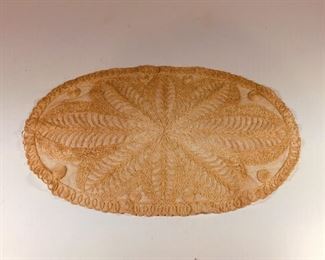 Lovely lace oval. $12.00