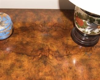 French Empire Burl Commode/Dresser with Pullout