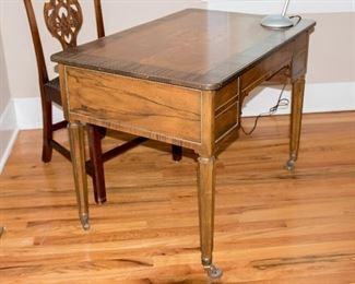 Antique Baker Furniture French Regency Mahogany Inlay Desk