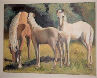 "Oil By Peggy Warren-""Horses"""