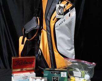 Golf bag and balls