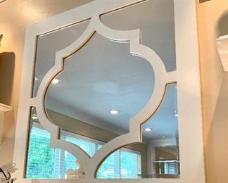 "$100 - CUTE Large Scale Decorative Mirror - Measures 32.5"" x 32.5""."