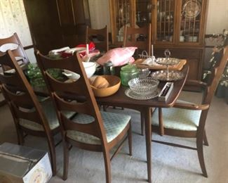 Mid century dining room table and chairs  $495.00