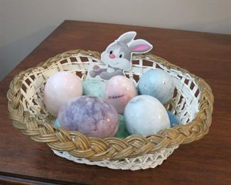 MARBLE EASTER EGGS.