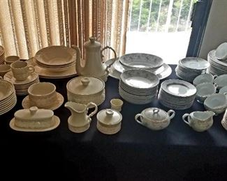 Two sets of China.  I will list the makers Monday.