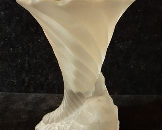 Antique Lalique vase, appx. 8 inches tall
