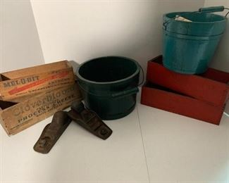 Antique Buckets and Boxes