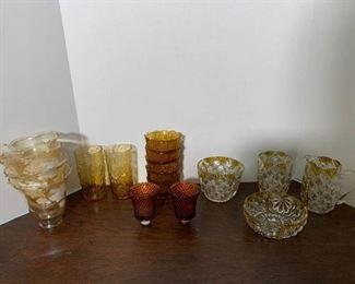 Amber Glasware Pieces