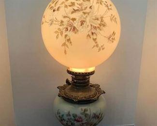 Antique Victorian Oil Lamp Converted