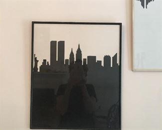 NY silhouette original artwork