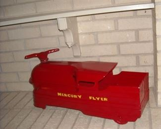 Keystone pressed steel Mercury Flyer ride on toy