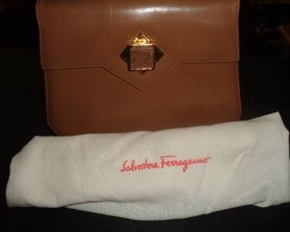 Ferragamo purse and shoes