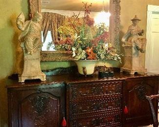 8ft long French Country oak buffet sideboard