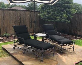 Alison Jon chaise lounges
