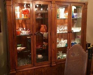 Beautiful Immaculate 2 Side China Cabinet.