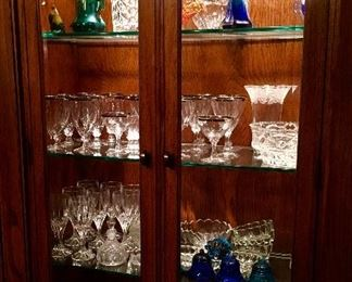 Beautiful lighted Cabinet.