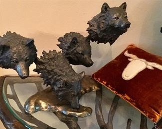 Bronze Wolves